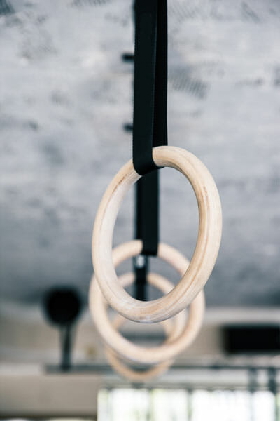 CrossFit rings for muscle ups