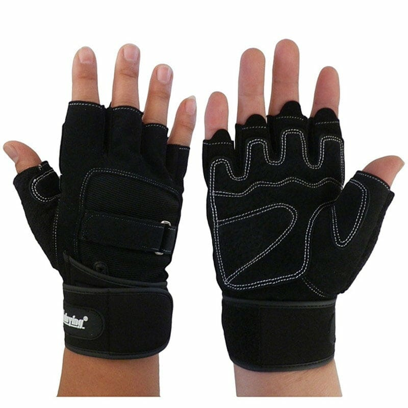 buy crossfit gloves fingerless training hand protectors for weighlifting and wods