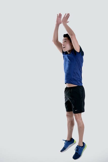 Burpee Jumping and Overhead Clap Position