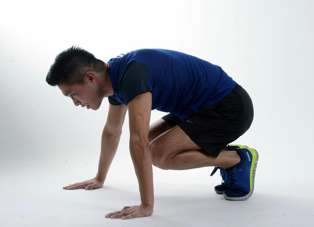 Burpee Squat Jump Preparation Position