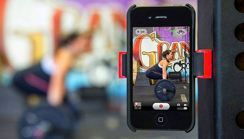 Phone mount for gym workout recordings - hands free