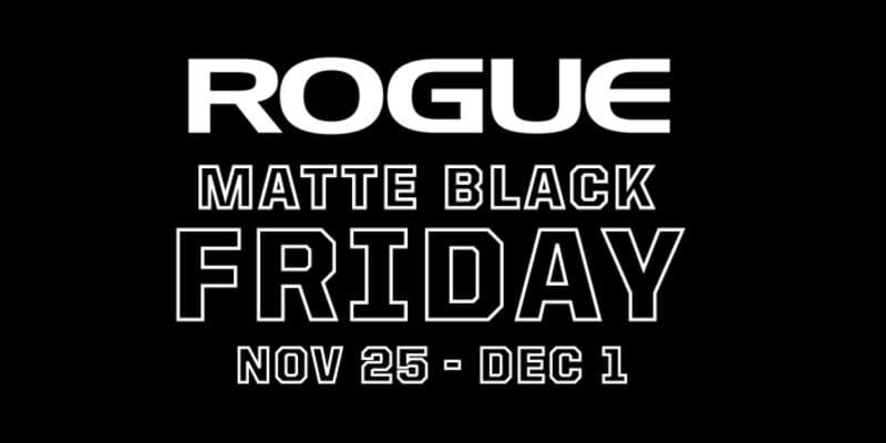Rogue Matt Black Fitness Deals