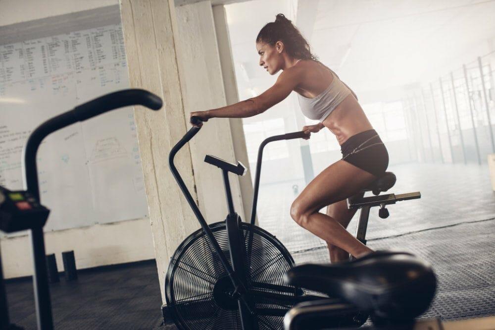 CrossFit cardio bike workout