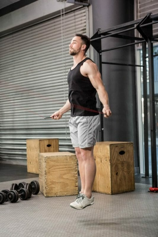 using a skipping rope in a CrossFit Box
