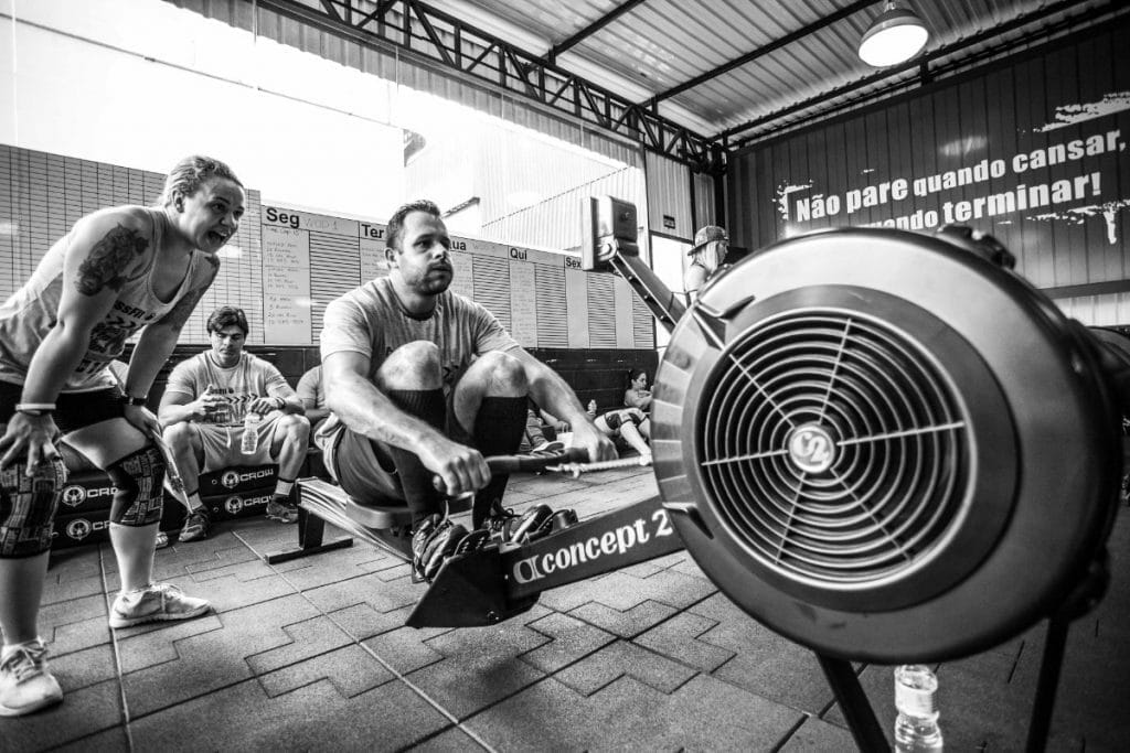 Rowing In A Crossfit Gym