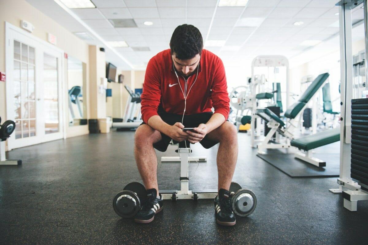 Taking A Break In A Gym