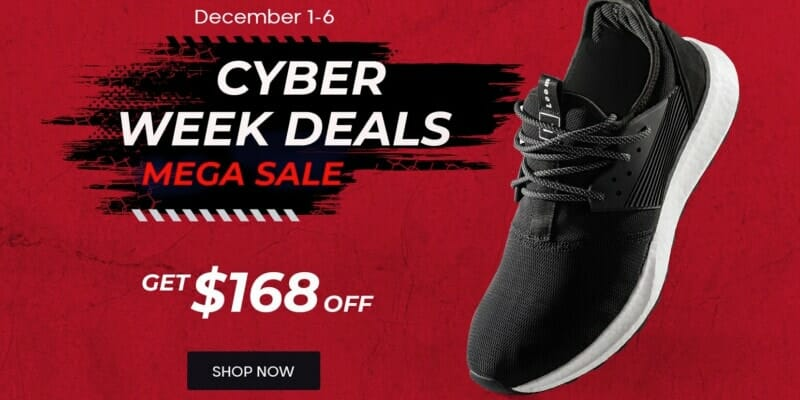 Loom Footwear Black Friday Cyber Monday Discount