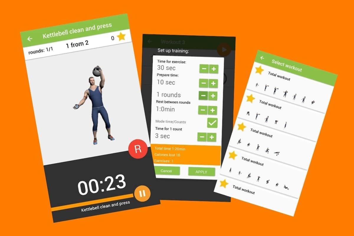 Kettlebell Workout Bestronger App Screenshots